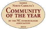 NC Homebuilders Association 2010 Community of the Year Award